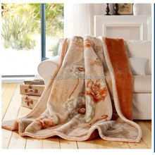 Printed queen size faux fur acrylic mink blanket
