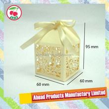 Laser cut wedding cake candy gift box