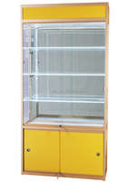 China wholesale classic design aluminum alloy 100*35*200cm acrylic glass display cabinets in retail store