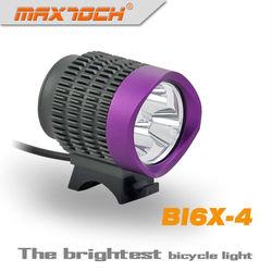 Maxtoch BI6X-4 2800 Lumens 3*CREE XML T6 Purple Bright Led Dynamo Bicycle Light