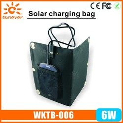 2015 hot new electronic items High quality new style dual usb solar bag for mobile phone