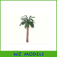 tropical zone palm tree type plastic coconut tree toy for scenery model layout