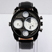 Brand manufacturer men luxury 2 time zone double japan quartz movement designer inspired oulm 9316 army watch