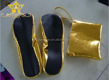 Alibaba hot selling trendy style lady red fold up ballet shoes faux leather