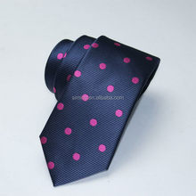 Super quality exported fashion red stripe polyester tie