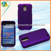 For Samsung Galaxy S2 4G T989 Hercules Hot Purple Snap-On Rubberized Plastic Case
