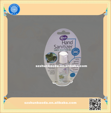 2015 nuevo producto tarjeta de la ampolla de embalaje para desinfectante para las manos botella