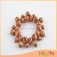 fashion jewelry wooden bead bracelet (animal print)