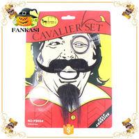 Novelty Pirate Mustache&Beard Earing Magnifying Glass Set Kits