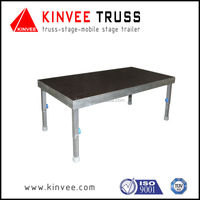 Portable moving aluminum stage for performance