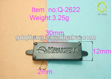 metal tag in bag luggage and cases Q-2622