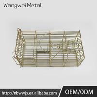 supermarket chrome metal basket