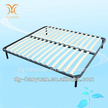 China Wood Slatted Double Bed Base Manufacturer