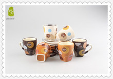Chinese promotional items ceramic bulk tea cup and saucer set wholesale