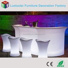 party use Plastic color change RGB glowing straight led lighted reception desk