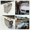 30bar/435psi steam pressure, 4*12V battery drive, diesel run heating mobile steam car wash machine