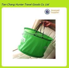 hot popular green nylon shopping bags,new style cloth storage bag,nylon foldable shopping bag