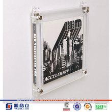 Montado en la pared marcos de fotos de acrílico / acrílico marcos de cuadros de montaje en pared / marco de fotos de acrílico
