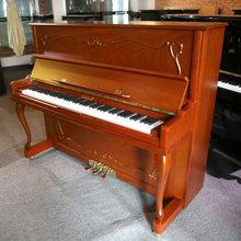 red walnut discount price baby keyboard to upright piano with brass pedal