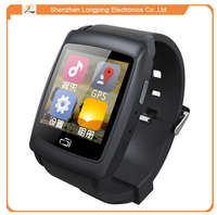 U18 MTK6572 Dual Core Android 4.4 Smart Wrist Watch Mobile Phone with 3G GSM Water capacitive Android Smart Bluetooth Watch