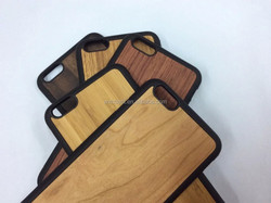 Hot Selling New Products Soft TPU + Real Wood Case for iPhone 6 Plus Many Desing Bamboo Case OEM Welcome