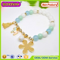 2015 gold charm bead bracelet, gold plated lucky charm bracelet jewelry, metal charm bracelet wholesale #31472