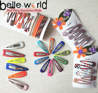 school color sleepies metal Snap hair Clips