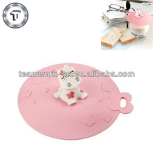 Promotional gifts cute calf silicone stretch lids