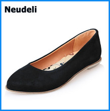Suede Leather Women Flat Shoes 2015 NEW Arrival Big Sale Shoes Made in China