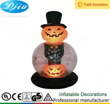 DJ-200 2015 hot Halloween 6ft double pumpkin design led light inflatable decoration