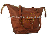 Lady leather bags, pure leather designer bags and handbags with vintage looks