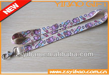 Promotion new style personalized sublimation polyester lanyard with factory price