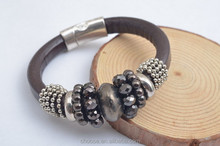 Fashion jewellery magntic braclet bangles with beads for ladies