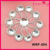 shoe decoration rhinestone applique shoe clips WRP-004
