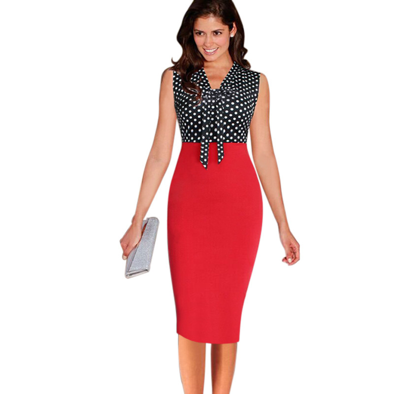 Ladies Office Bodycon Dress Women Formal Party Business Bodycon