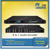 Cable tv digital audio encoder for digital tv headend equipment