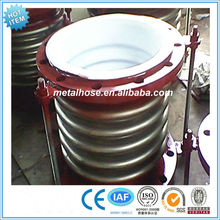 Teflon/PTFE Lined stainless steel compensator/ss304 ptfe lined bellows pipe compensator