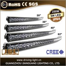 single row 50 inch 250W/200W/150W slim Curved Cree Led Light Bar, 50'' LED Light Bar Off Road, Car LED Light Bar for 4x4