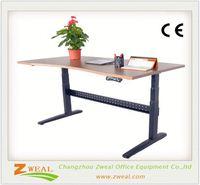 modern executive office desk adjustable rolling table metal