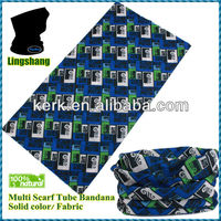 LSB41 polyester seamless tubular Headwear blue hair bmultifunctional bandana