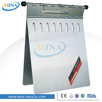 stainless steel medical record folder, medical record holder, medical chart holder