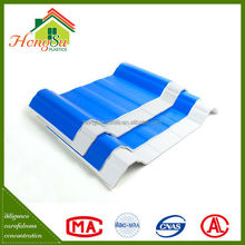 Chinese roof design 100% waterproof 4 layer different colors pvc roof tile