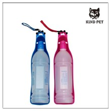 pet drinker bottle easy to carry plastic dog water feeder