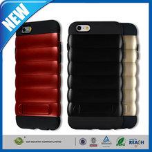 C&T New stylish unique grain kickstand hybrid mobile phone case for iphone 6