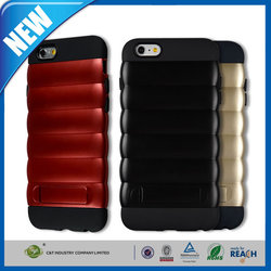 C&T New stylish unique grain kickstand hybrid mobile phone case for iphone 6