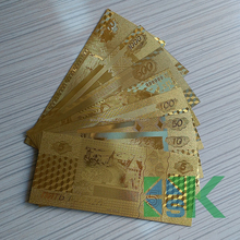 Whole Set of 7 PCS of 5/10/50/100/500/1000/5000 Russia Ruble Gold Foil Banknote as Promotional Thanksgiving Festival Gift