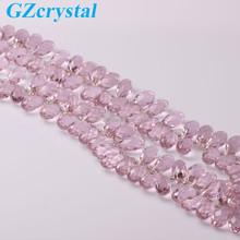 pink colour drop shape wholesale gemstone bead