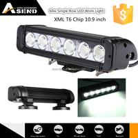 "made in china 60w 10.9 inch spot/ flood / combo beam atv led light bar 12v 24 votate led off road light bar 10.9"" wholesale"
