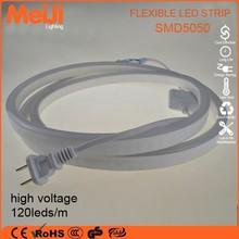 110/220volt high lightness wholesale 5050 led strip light motion sensor for outdoor decoration