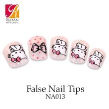 Artificial Nail Tip Girl Dress Cartoon Nail Art Sticker NA013